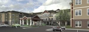 New Perspective Waukesha Front Entrance Rendering