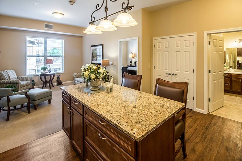 New Perspective North Shore Brown Deer, WI Model Apartment Kitchen Island