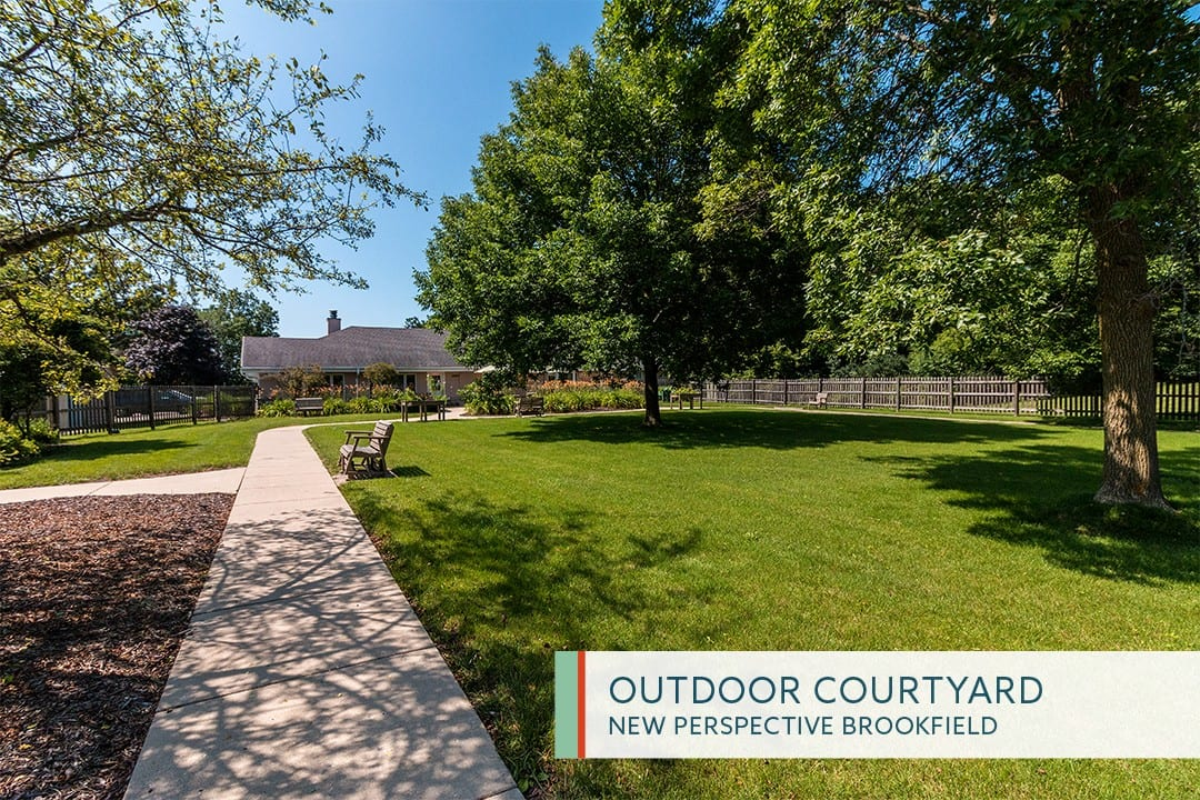 Outdoor Courtyard at New Perspective Brookfield