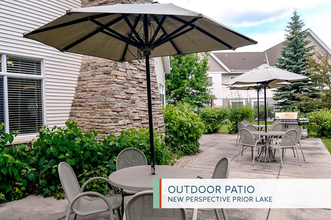 Outdoor Patio at New Perspective Prior Lake