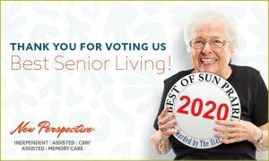 Thank You for Voting Us Best Senior Living 2020