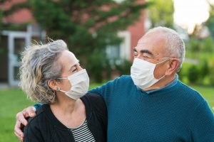Couple Wearing Surgical Masks